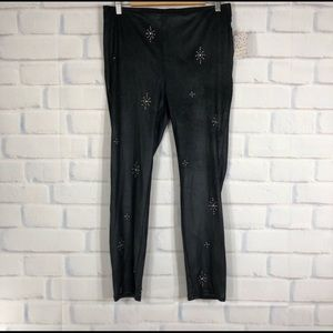 Free People Pants - Free People Stud Embellished Black Leggings